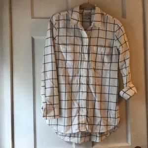 Madewell flannel classic boy shirt XXS